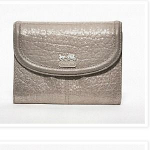Coach Madison metallic leather medium wallet
