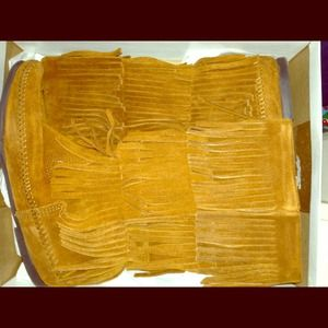3 layer fringe moccasins
