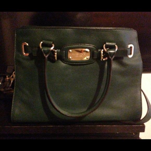 77950921c3668c Michael Kors Bags | Hamilton Hunter Green Medium Tote Bag | Poshmark