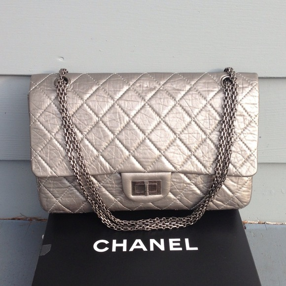 19d4e7e5fec9 CHANEL Handbags - Chanel 2.55 Dark Grey Aged Calfskin Reissue 227