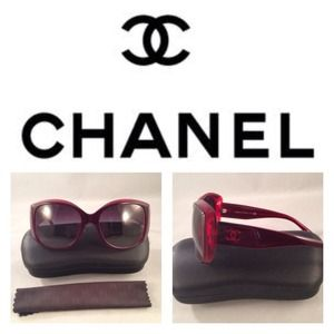 Authentic Chanel Red Sunnies