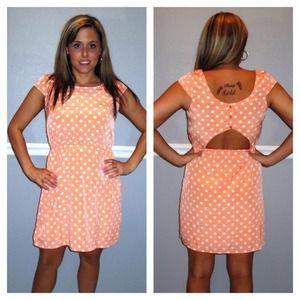 44% off Dresses &amp Skirts - Orange &amp White Striped Dress from ...