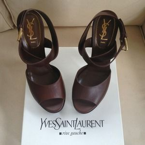 "Yves Saint Laurent Shoes - 🎉HOST PICK🎉 YSL ""Gianovia"" Strap Sandals 40 NWT"
