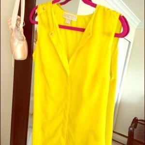 Long, Michael Kors yellow blouse PRICE REDUCED!!