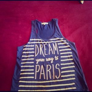 "Tops - ""Dream your way to Paris"" tank top"