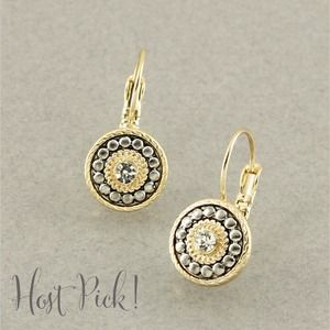 Jewelry - Gold and silver Swarovski crystal earrings