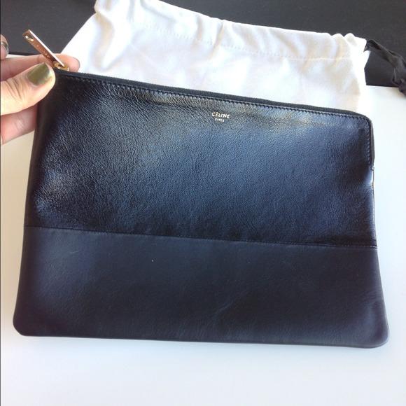 9% off CELINE Clutches \u0026amp; Wallets - CELINE clutch pouch in black ...