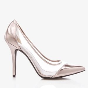 Forever 21 Shoes - Clear Metallic Pumps