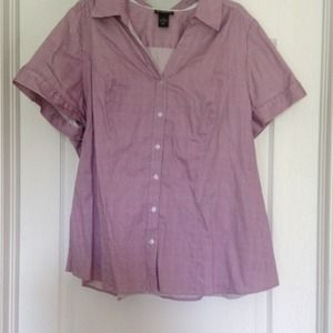 Lane Bryant fitted blouse.