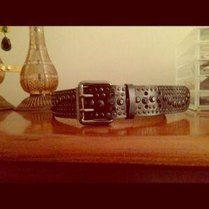 Accessories - Black crystal belt