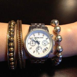 Michael Kors Silver Bling Watch