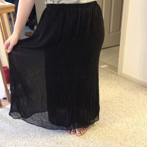 Forever 21 Dresses & Skirts - Sheer lined maxi skirt and grey maxi