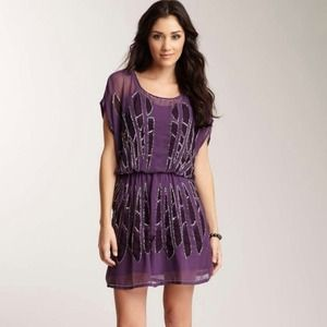 Nwt Romeo and Juliet couture purple beaded dress M