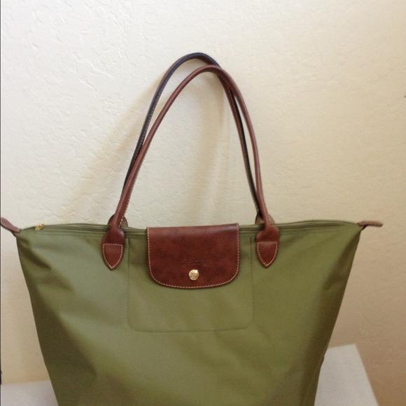 Longchamp Bags   Le Pliage Tote Bag Olive Green Large   Poshmark 9c89fa6b0c