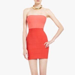 BCBG Colorblock Bandage Dress