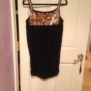 Black and gold Zara dress m