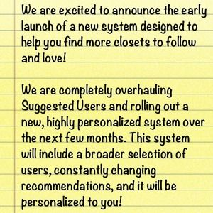App Update: Suggested Users