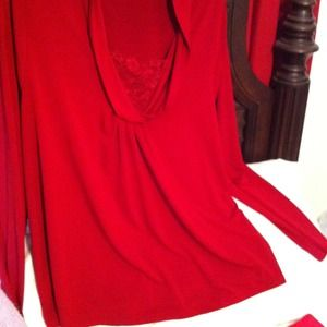 East 5th Woman Tops - East 5th Avenue Red Long Sleeve Jersey Top