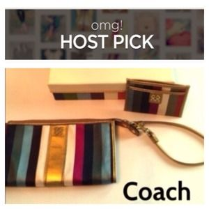 Host Pick! COACH Legacy Wristlet & ID Holder