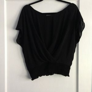 Zara Tops - Black Zara party top like new!