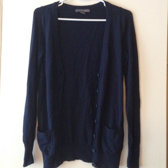 45% off Forever 21 Sweaters - long cardigan in navy blue from ...