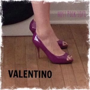 HPNWOB Valentino Pat. Leather Peep Toe Pumps 7.5