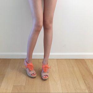 Cole Haan coral sandal wedge