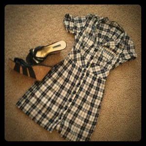 Guess Dresses & Skirts - BUNDLED! Guess plaid button down dress