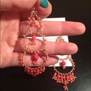 Jewelry - Coral chandelier earrings