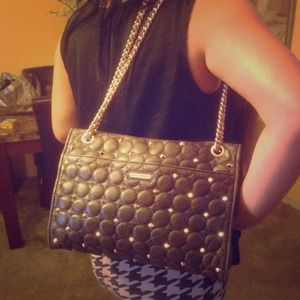 QUILTED LEATHER STUDDED REBECCA MINKOFF