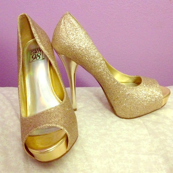 14% off Speed Limit 98 Shoes - Gold 5 inch heels! from Valerie&39s