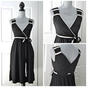 Converse Dresses & Skirts - Faux wrap dress in black and white