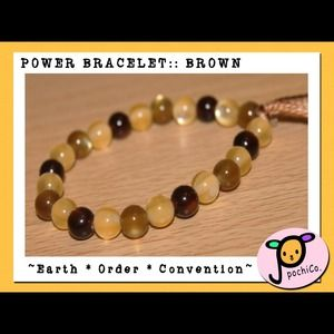 Jewelry - Handmade POWER BRACELET:: Brown