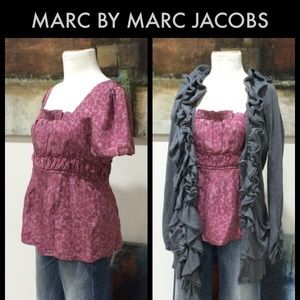 Marc Jacobs Silk Patterned Top
