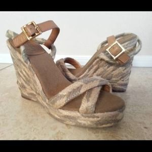 ReducedTory Burch Camilla wedges sandals tan 9