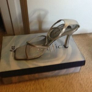Shoes - Silver Ankle strap
