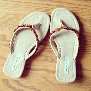 Lord & Taylor beaded sandals NWOT