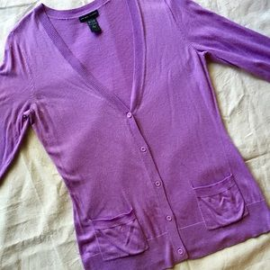 NY & Co. Lilac Cardigan Sz Large