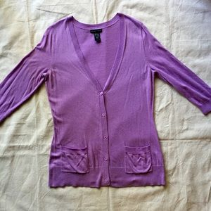 NY and Company Sweaters - NY & Co. Lilac Cardigan Sz Large