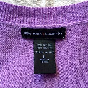 NY and Company Sweaters - NY & Co. Lilac Cardigan Sz Large