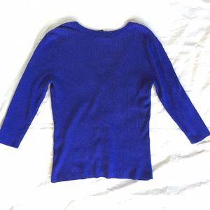 NY and Company Sweaters - NY & Co. Royal Blue Cardigan Size Large