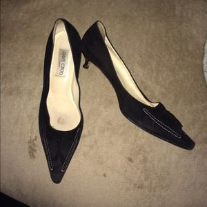 Suede Jimmy Choo kitten heels, make an offer!!