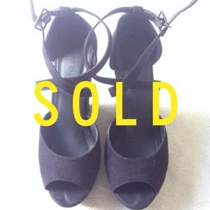 Forever 21 Shoes - SOLD Black suede wedges