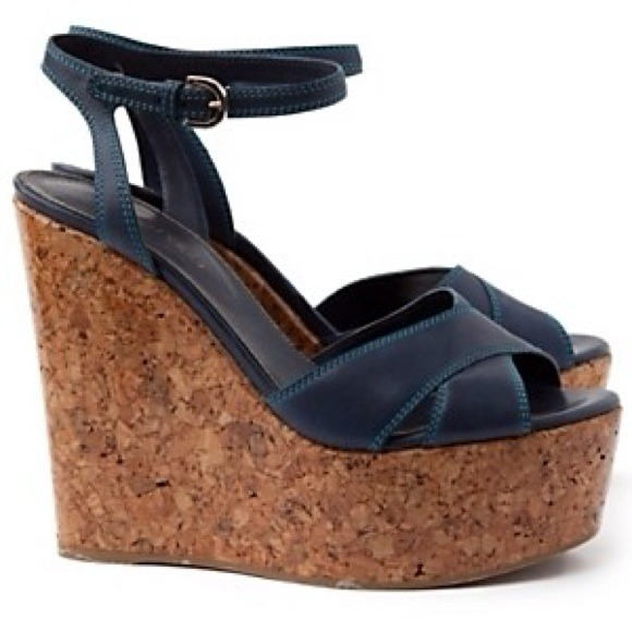 Sergio Rossi Wedge Sandals platform leather Discount Order Cheap Visit New Cheap Sale From China Red Pre Order Eastbay rpEtJ2lE
