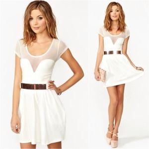 NastyGal Mesh White Dress