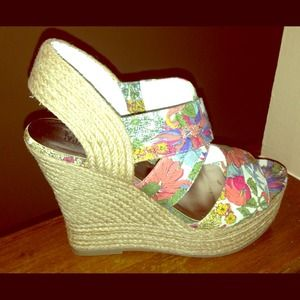 REDUCED! NWT Floral Wedges