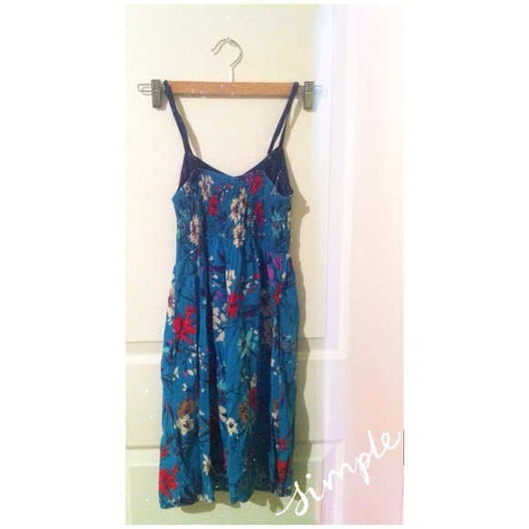 Xhilaration Dresses - xhilaration / / blue XS floral dress
