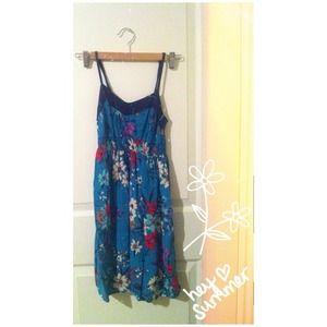 Xhilaration Dresses - xhilaration / / blue XS floral dress