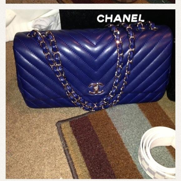0b2ddff9b CHANEL Bags   Authentic Navyroyal Blue Handbag   Poshmark