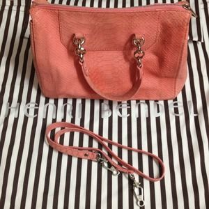 Henri Bendel Coral Barrel Handbag 